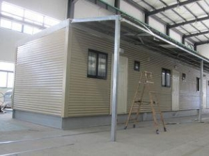 China Fully Decorated Finished Bunk prefabricated House / Yellow Contemporary Modular Homes on sale