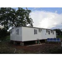 China Modular Portable Emergency Shelter , Foldable Prefabricated Homes / Corrugated Tiles on sale