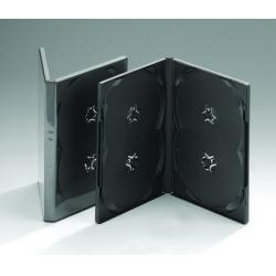 China DVD Case 14MM DVD case for 4 disc (black) on sale