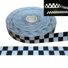 China Hi-VIZ Red White Reflective Fabric Tape 50mm sew in the clothes on sale