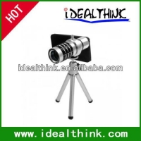 Item  12X Optical Zoom Mobile Phone Telescope Lens with Tripod + Plastic Case for iPhone 5