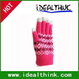 China Item Touch Screen Gloves Womens Winter Running Pair for iPhone/iPad on sale