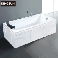 Acrylic Jetted Whirlpool Bath Tub Shower Combo