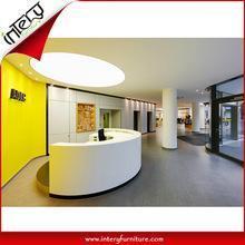 China Classic Fashionable Customized Size Semi-circle Reception Desk on sale
