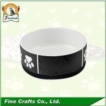 China Wholesale ceramic Pet bowl with chalkboard on sale
