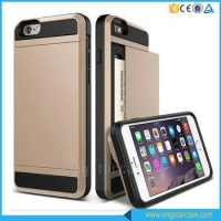Hot Selling Slide Armor Phone Case for iPhone 6 Plus, for iPhone 6s Plus Case with Card Slot
