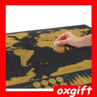 OXGIFT Scratch Map Black Edition world map