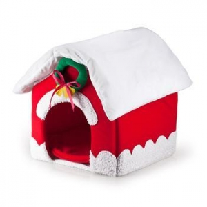 China Pet Beds New pet products dog house Christmas House dog beds for pet on sale