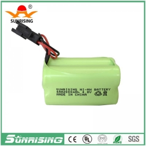 China NiMH Battery NIMH AAx4 2000MAH 4.8V Battery Pack on sale
