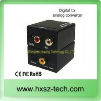 China audio digital to analog audio converter (DAC 5.1)/digital to analog tv converter box on sale