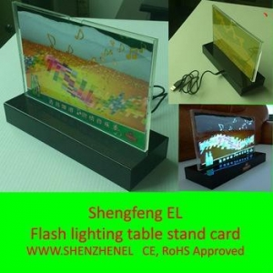 China EL flash lighted animation table stand panel for granstand on sale