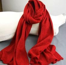China Mongolian Women Fashionable Hook Big Pure Cashmere Knitted Scarf on sale