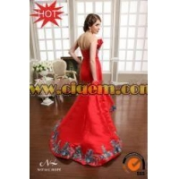 Ethnic Clothing Newest Red Strapless Mermaid Long Bollywood evening dresses under 50