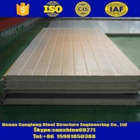 Rock wool/Glass wool/PU/Sandwich panels Polyurethane (PU) Sandwich Panel for Cold store/cold room