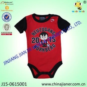 China 100% Cotton Babysuit O-neck Short Sleeve Baby Romper Clothes on sale