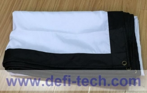 China Portable Folded Front Projection Screen Fabric on sale