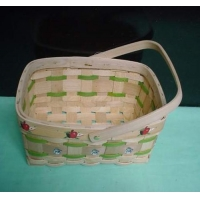 China Wooden Weave Striped wood chip basket on sale
