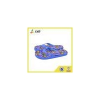 children fuzzy promotional cartoon flip flop pvc slippers on hot sale