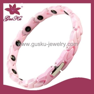 China Gus-CMB-024Fashion Pink Ceramic Bracelet on sale