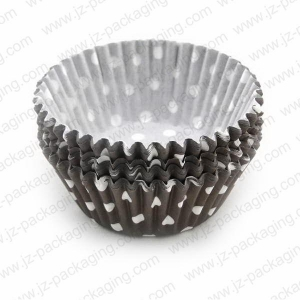 China cupcake cases cp0012-02 brown dots cupcake cases baking cup cupcake cases on sale