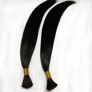 China Natural black human hair bulk whole sale price hair bundles on sale