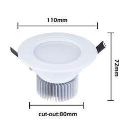 China Led Downlight 15W 5x3W Led Ceiling Fixture Cabinet Lamp Bulb Warm White + Driver on sale