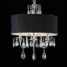 China modern crystal chandelier with fabric shade (IH-7104) on sale