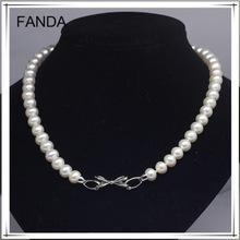 China Natural freshwater pearl necklace with brooch on sale