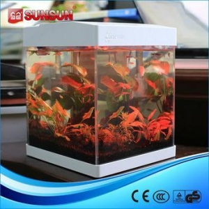 China Aquarium SUNSUN G-20 wholesale cylindrical acrylic aquarium on sale