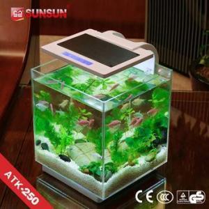China Aquarium SUNSUN G-25 led plastic acrylic aquarium fish tank price for sale on sale