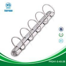 China Ring Mechanism 9.5 inches metal 5-ring binder clip/metal office clip for sale on sale