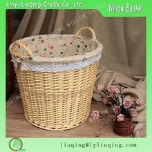 China Factory supplier Large Wicker Basket with Handles for Logs, Kindling, Toys, Storage with ear handles on sale