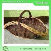 VINTAGE STYLE-Large Wicker Log Basket -handmade-XMAS GIFT