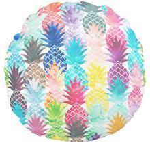 China Hawaiian Pineapple pattern Tropical watercolour round cushions on sale