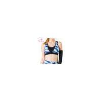 Black and White Lattice Nylon Gym Sport Women Bra Wholesale