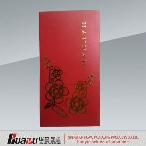 China Red Packet Recycled paper square custom made red envelope on sale
