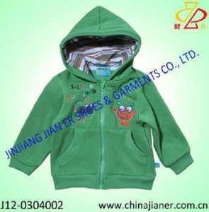 China 100%cotton green color cheap kids jackets from china on sale