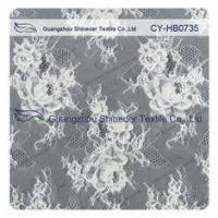 Jacquard Sewing Eyelash Lace Trim Fabric By The Yard , Custom Printed