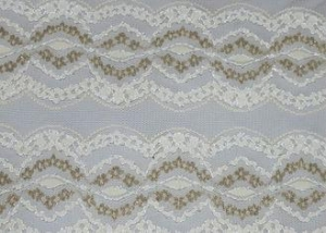 China Underwear Metallic Lace Fabric Nylon Polyester Spandex Material CY-LW0798 on sale