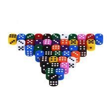 China 100 Assorted 10 Colors 16MM Colored Educational Dice on sale