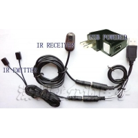 Remote Control IR Repeater/ IR Extender with 1 Receiver & 2 Emitters U102-PI