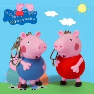 China Cute mini led flashlight keychain pig shape keychain on sale