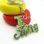 Interested souvenir keychain letter keychain I LOVE MONEY