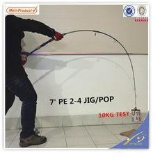 China JGR168 cheap import fishing tackle carbon power Jig rod on sale