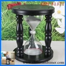 China Small Manufacturing Ideas Large Wooden Sandtimer Hourglass Stool on sale