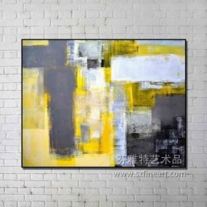 China New Arrival Abstract handmade painting with float frame on sale