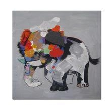 China Abstract Elephant Canvas Painting/Cute Animal Wall Decor Art/Modern Wholesale Canvas Wall Art on sale