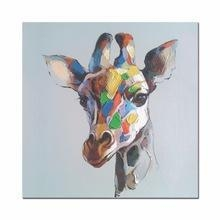 China Abstract Deer Oil Painting Giclee Print Framed Canvas Art for Home Decoration on sale