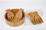 China Bamboo salad bowl set on sale