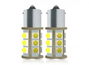 China Car LED Light Bulbs 5050 SMD BA15s Flat Foot Bronze Head Low light - declining on sale